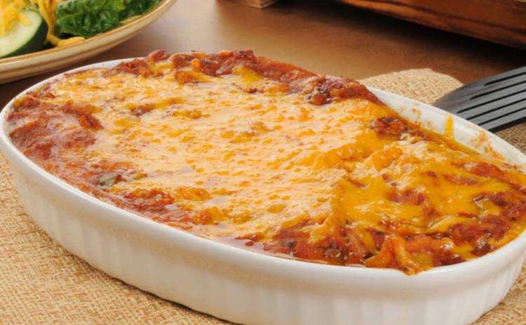 Куриная запеканка с сыром, орехами и грибами (рецепт)
