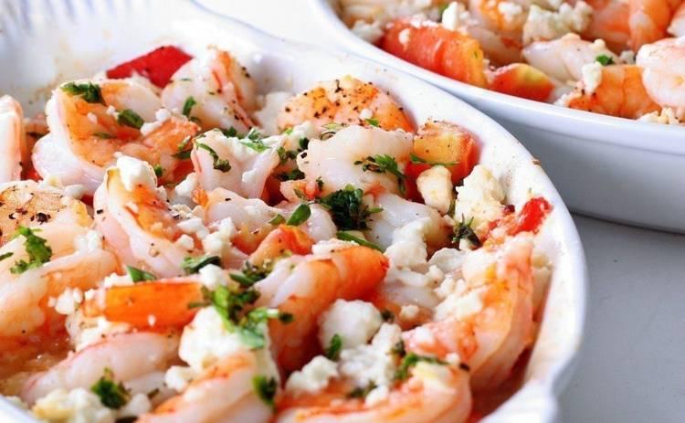 Салат с креветками и творожным сыром (рецепт)