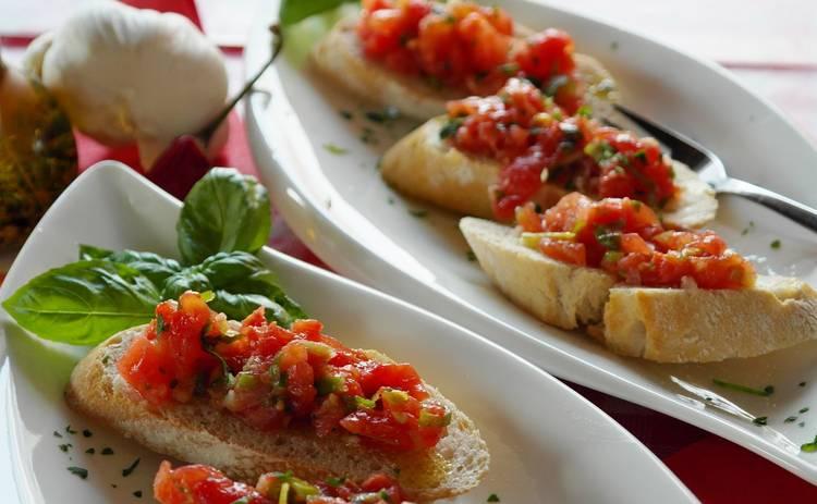 Брускетта с помидорами для гурманов (рецепт)