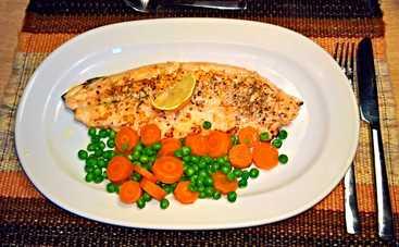 Легкий гарнир из моркови с зеленым горошком (рецепт)