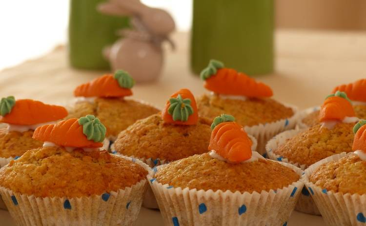 Морковный кекс в микроволновке (рецепт)