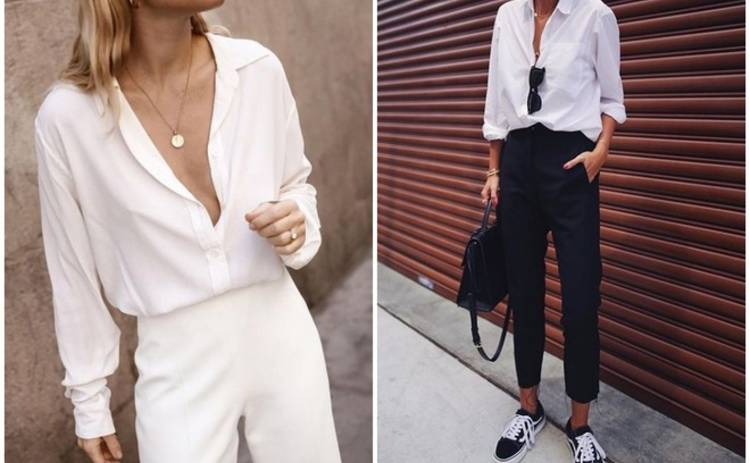 Как носить белую рубашку: 3 варианта для любого случая жизни