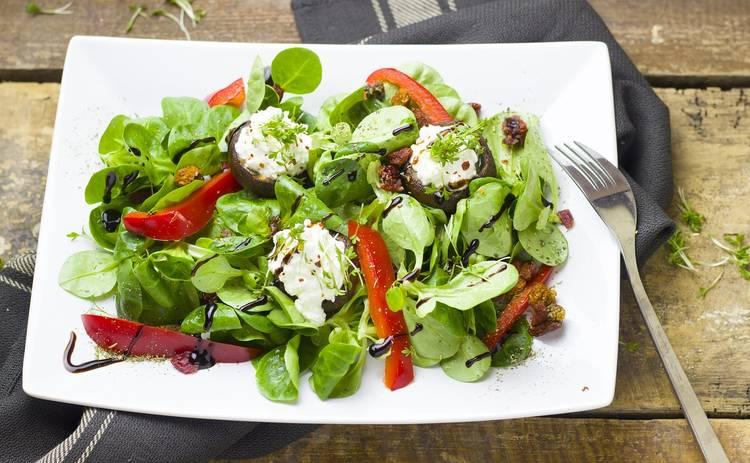Творожный салат с овощами (рецепт)