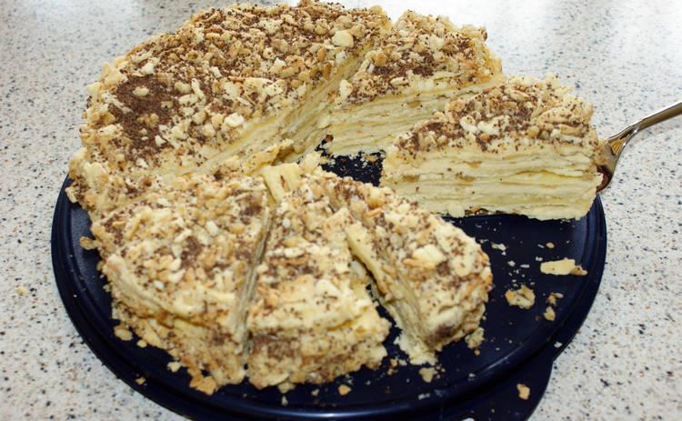 Легендарный торт Наполеон без выпечки (рецепт)