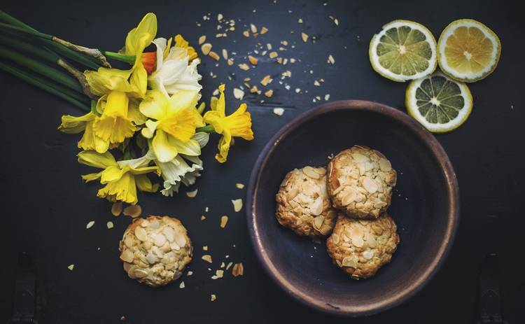 Печенье к чаю за 20 минут с ароматом апельсина (рецепт)