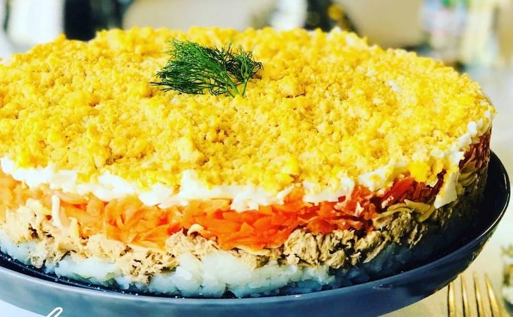 Новый вариант классического салата «Мимоза» (рецепт)