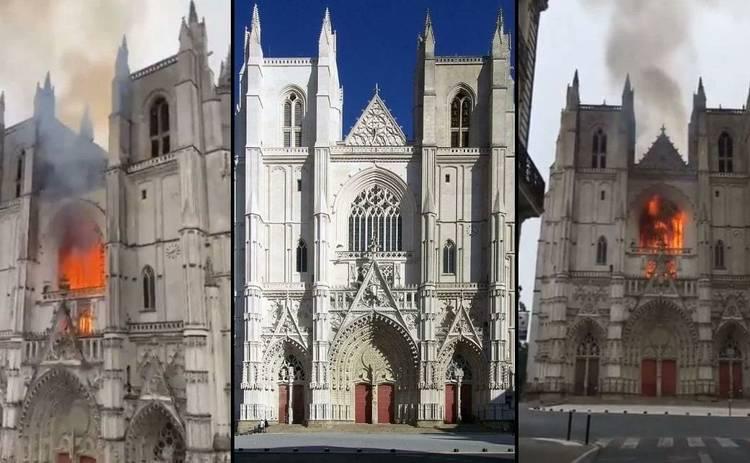 Во Франции загорелся один из крупнейших готических соборов - видео