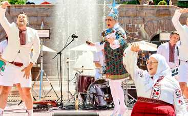 Верка Сердючка устроила жаркие танцы, купаясь в фонтане на Крещатике