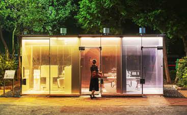 В Токио установили прозрачные туалеты