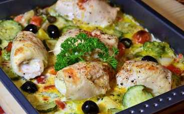 Пикантная курица с грибами со сливками рецепт