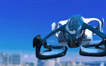 В Японии в воздух поднялся летающий автомобиль с человеком на борту