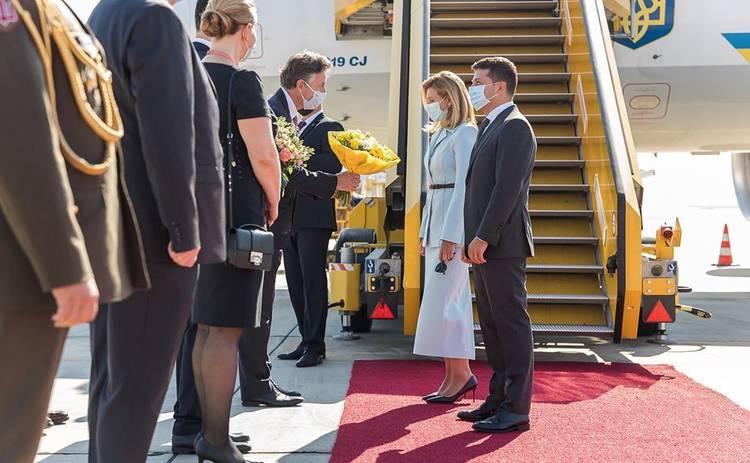 Елена Зеленская восхитила стильным образом во время встречи с женой президента Польши