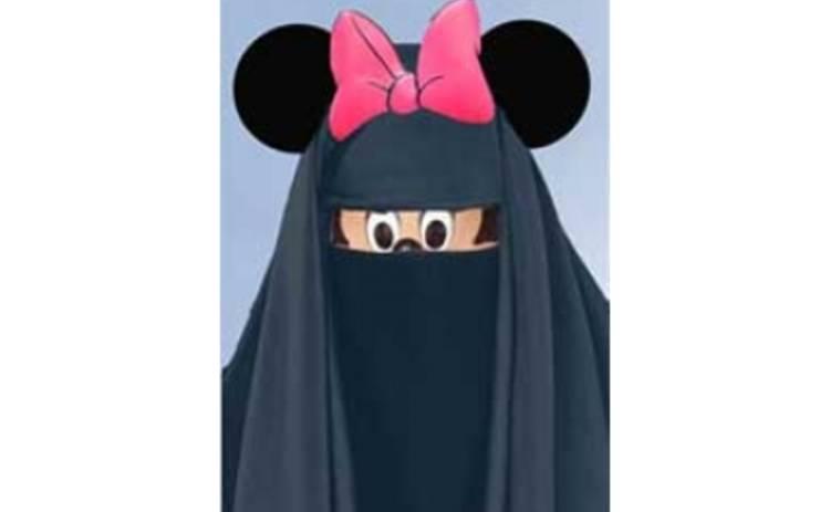 Подружка Мики-Мауса одела паранджу