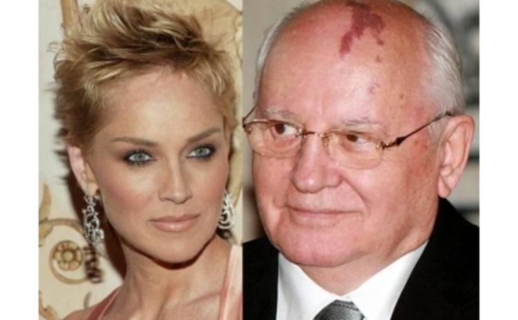 Горбачев встретился с Шерон Стоун