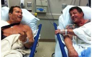 Шварценеггер и Сталлоне попали в больницу