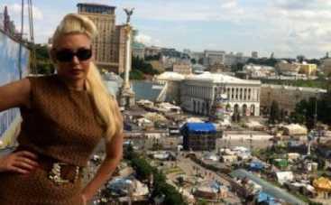 Светлана Вольнова поздравила киевлян с уборкой Майдана