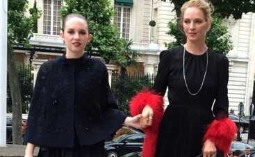 Ума Турман с дочерью Майей и другие звезды на Неделе Высокой моды