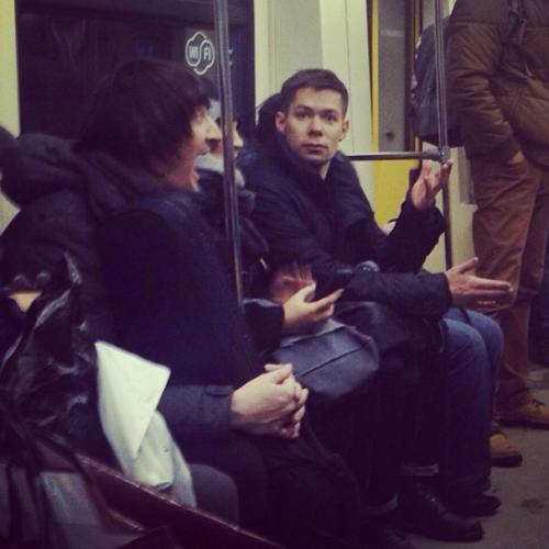 Стас Пьеха проехался в Московском метро из-за непогоды