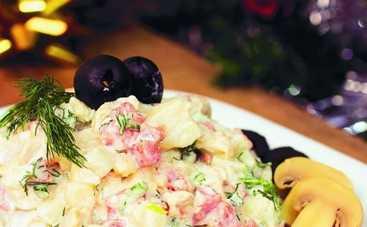 Новогодний стол 2015: рецепт оливье по-новому и дамская селедка (ФОТО)