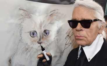 Кошка Карла Лагерфельда зарабатывает миллионы