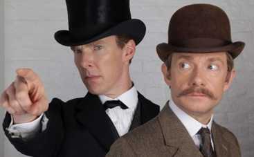 Шерлок: Бенедикт Камбербэтч и Мартин Фриман в промо-видео рождественской серии
