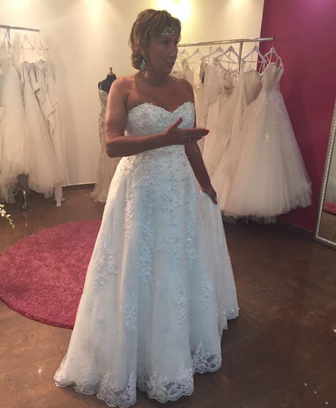 Копенкина в свадебном платье