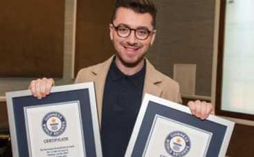 Сэм Смит получил от Книги рекордов Гиннеса сразу две награды