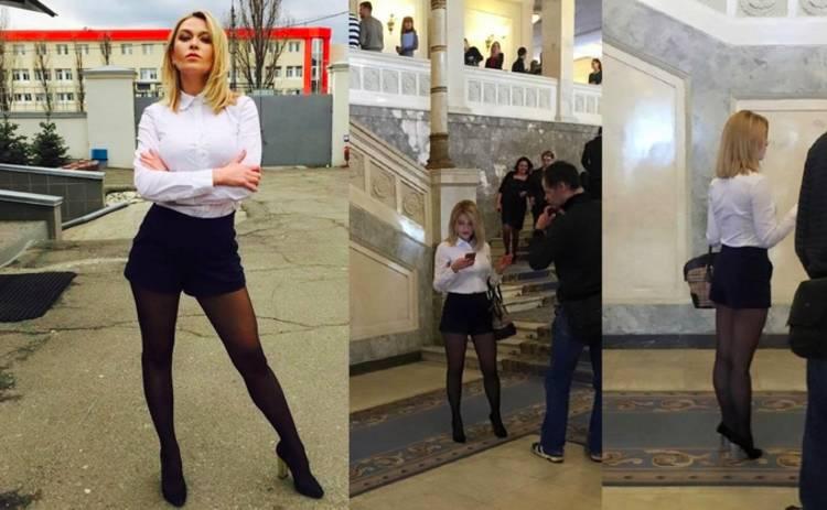 Весеннее обострение. Журналистка прибыла в Раду в откровенных шортах