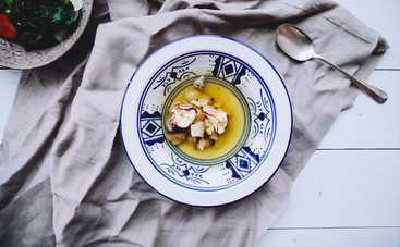 Суп с сельдереем и белыми грибами. Рецепт Евгения Клопотенко