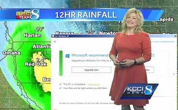 Обновление Windows испортило прямой эфир прогноза погоды