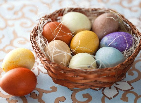 Пасха: яйца-крашенки