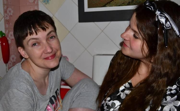 Как Савченко провела первую ночь на свободе (фото)