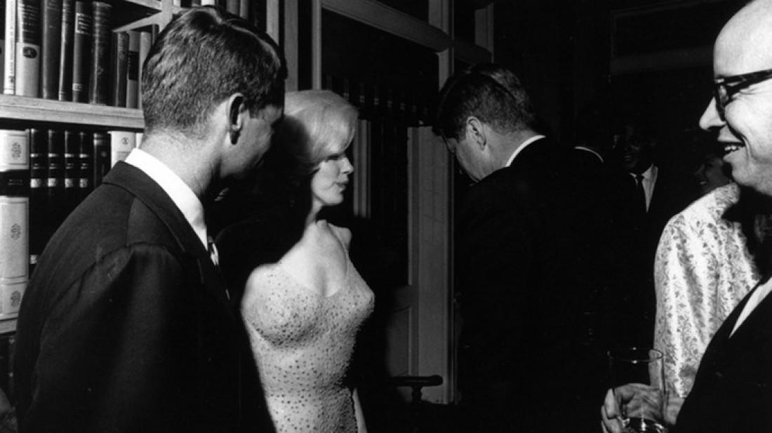 С Джоном Кеннеди в День его рождения