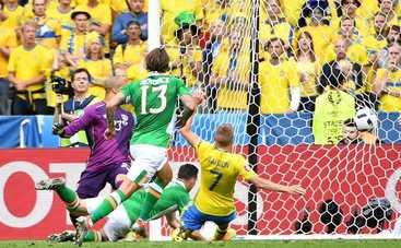 Евро-2016: шведы и ирландцы разошлись боевым миром (видео)