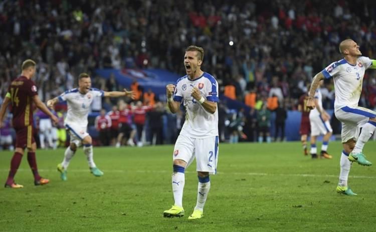 Евро-2016: Словакия бьет Россию (видео)