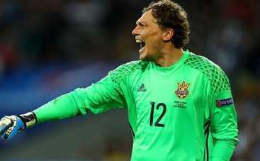 Вратарь сборной Украины стал одним из лучших на Евро