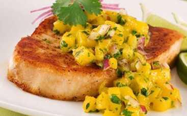 Жареная рыба с манго (рецепт)