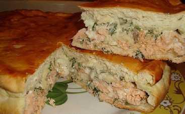 Слоеный рыбацкий пирог (рецепт)