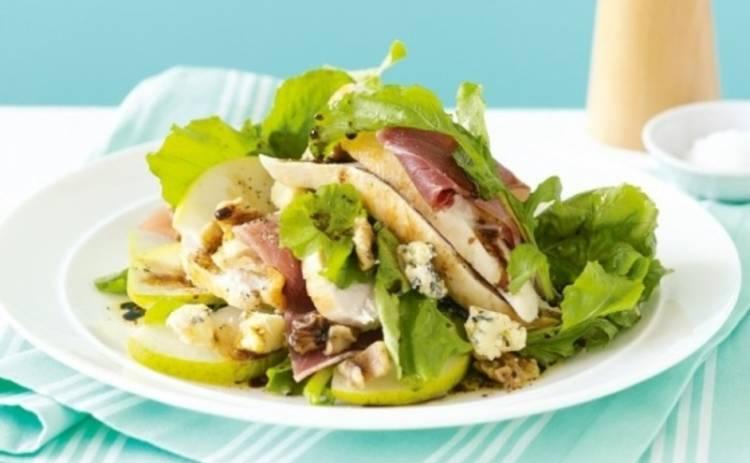 рецепт салата с грушей и курицей