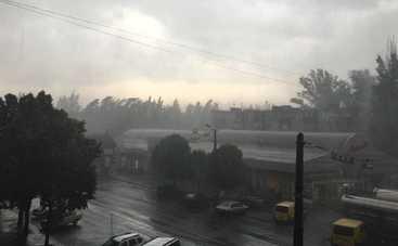 На Днепропетровщине стихия затапливала улицы и валила деревья