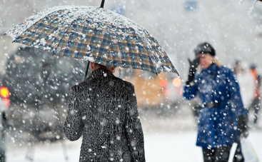 В Харькове выпал первый снег (видео)
