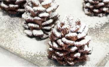 Шоколадные «шишки»: эффектный десерт без выпечки