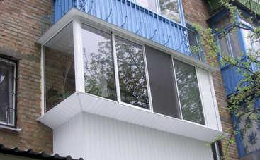 Киевлянам запретят стеклить балконы