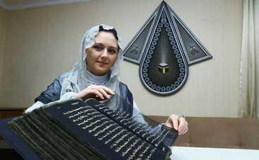 Художница переписала Коран золотом (фото)