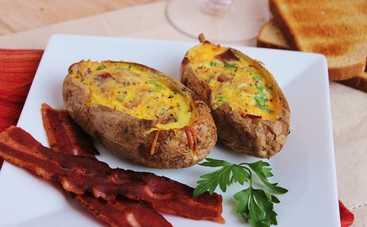 Картофельные лодочки с беконом (рецепт)