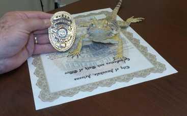 На службу в полицию США призвали ящерицу (фото)