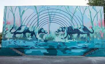 Аргентинский художник Franco Fasoli JAZ украсил стену киевской гимназии