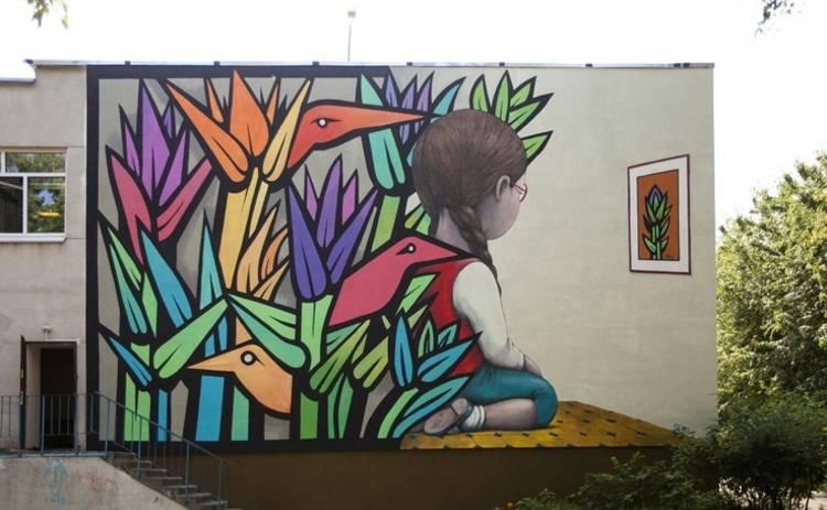 Художники Mono Gonzalez и Seth создали мурал на киевской школе