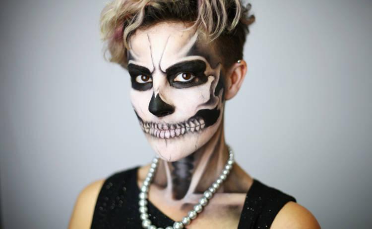 10 идей для жуткого макияжа на Хэллоуин