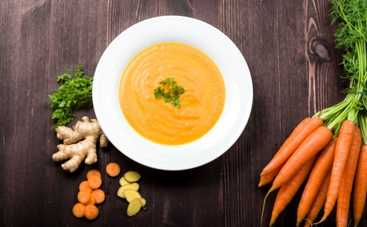 Овощной крем-суп с имбирем (рецепт)